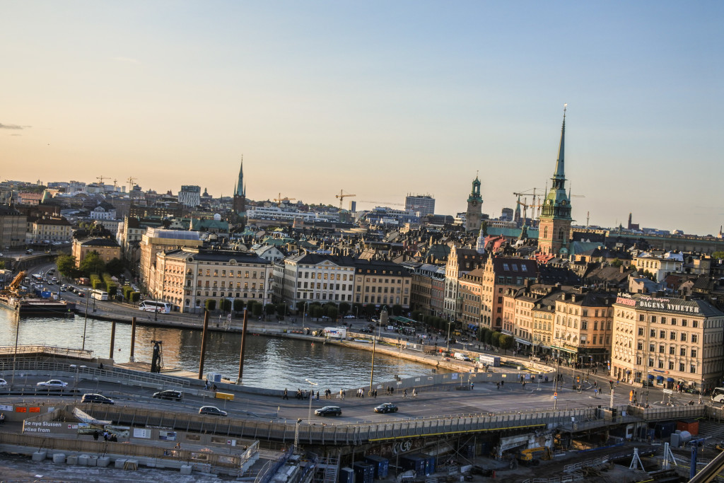 the view from Gondolen -
